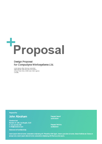 Word Proposal Template Sleek Proposal Professional Proposal